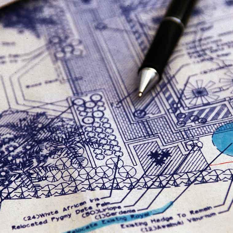 Sketching of landscape design | Landscape Design Services Landscape Florida