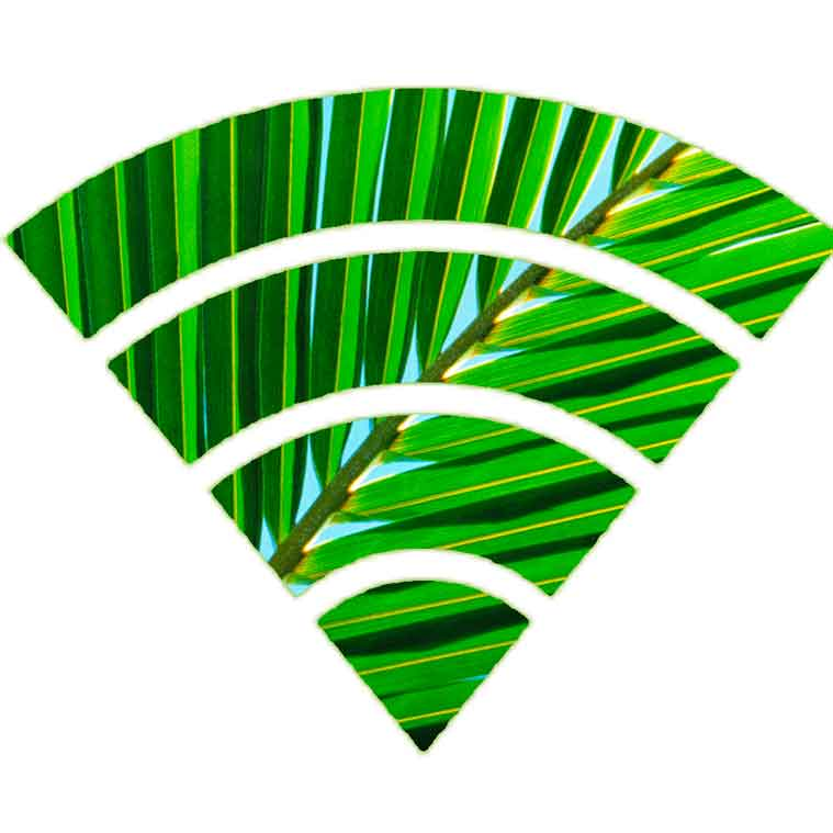 Leaves with Wi-Fi Signal Bars | Modern Technology Services Landscape Florida